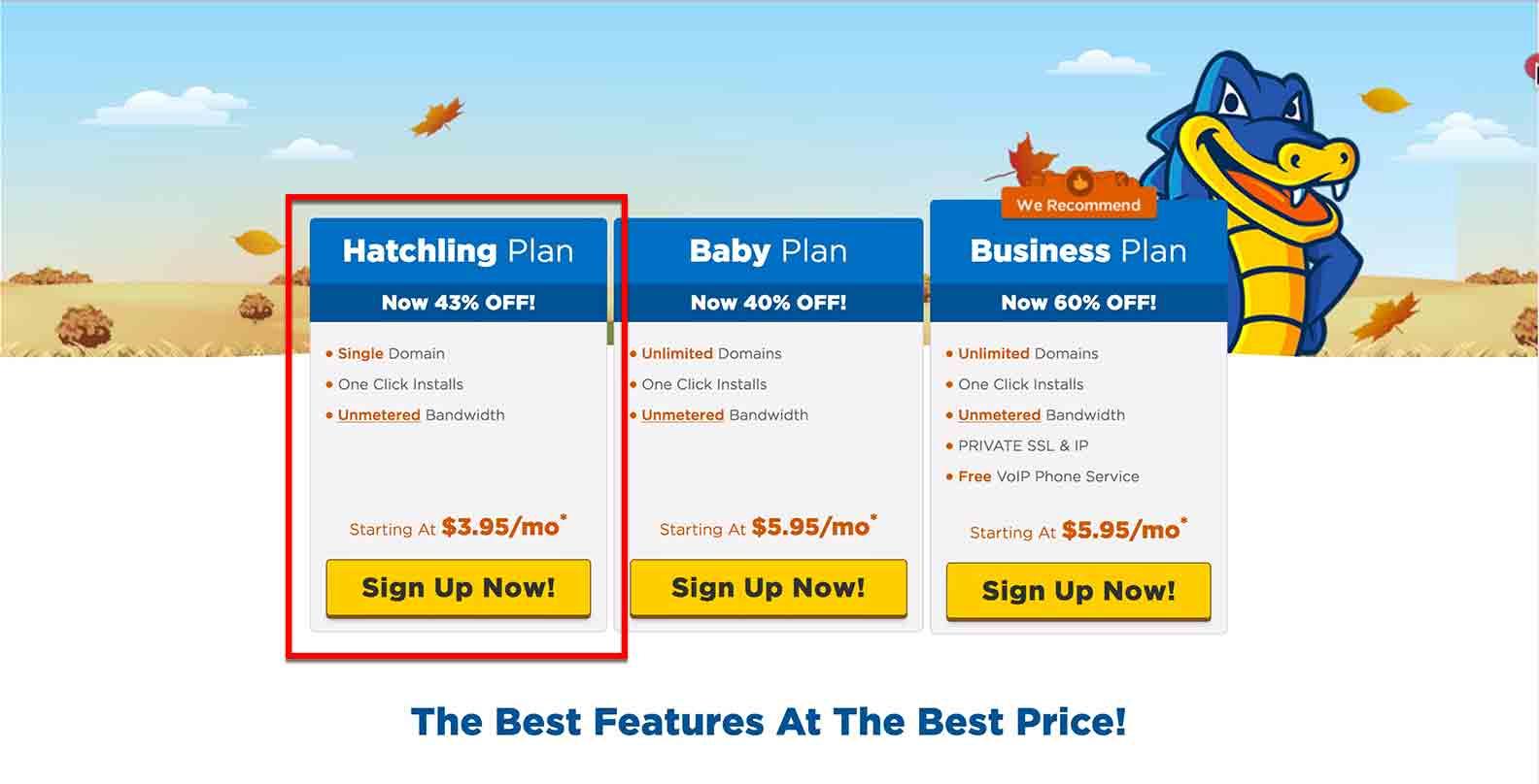 hostgator business plan