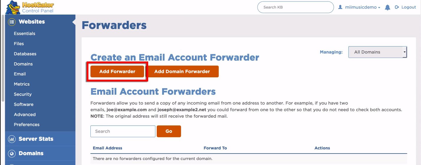 how to create multiple e-mail accounts in host gator